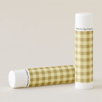 Mustard Gold Checkered Pattern Lip Balm