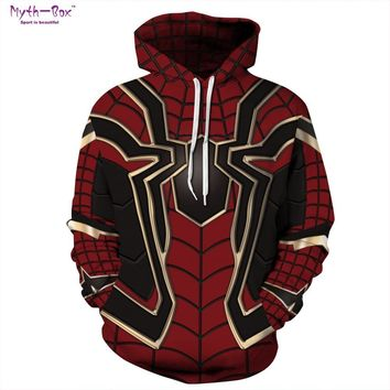 Spiderman Designed Black & Red Hoodie