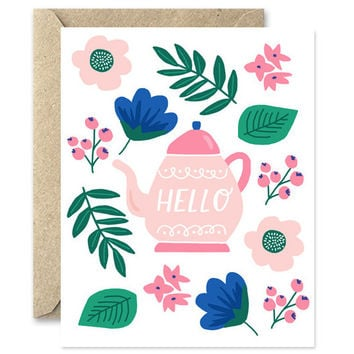 hello teapot card