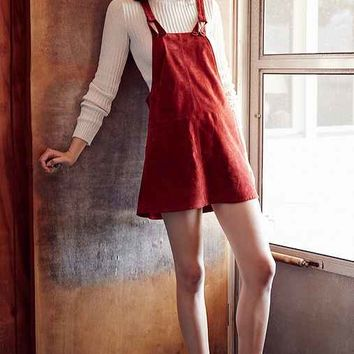 Cooperative Brandy Suede Overall Dress