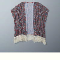 Patterned Kimono Cover Up