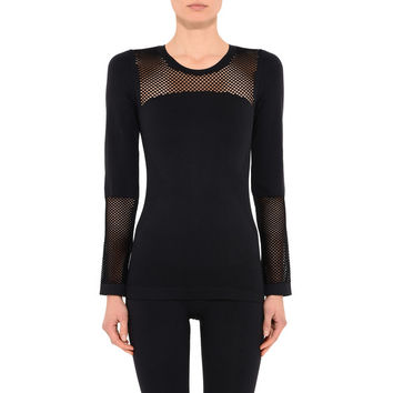 Black Seamless Mesh Top - Adidas By Stella Mccartney
