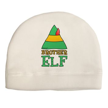 Matching Christmas Design - Elf Family - Brother Elf Child Fleece Beanie Cap Hat