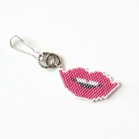 Pink Lips Planner Charm And Decor