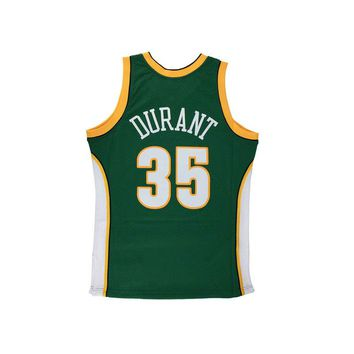 Original NBA Jerseys M&N SWINGMAN Retro Jerseys Number 35 Seattle Supersonics Kevin Durant Men's Breathable Basketball Jerseys