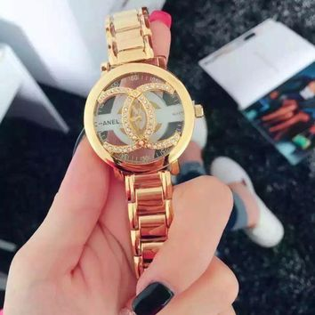 LMFON Day-First? CHANEL Hot Vintage Fashion Quartz Classic Watch Round Ladies Women Men wristwatch On Sales Jovial(With Thanksgiving&C