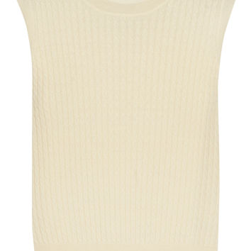 Vanessa Seward - Amarylis cable-knit merino wool top