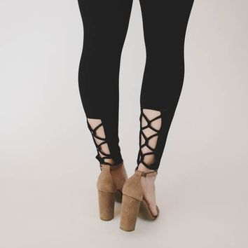 Harper Ankle Leggings - Black