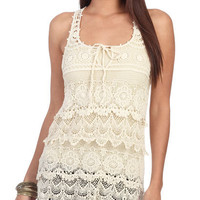 Sleeveless Crochet Top | Shop Just Arrived at Wet Seal
