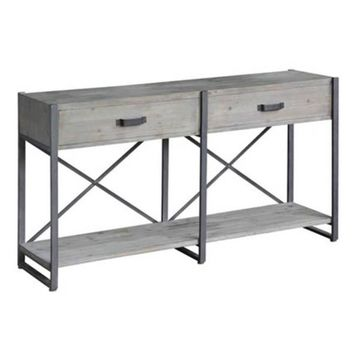 Iron Junction Metal and Wood Rustic Console