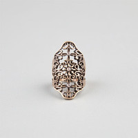 Full Tilt Scroll Cutout Ring Gold