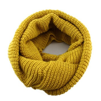 Arionna Wool Knitted Scarf Mustard