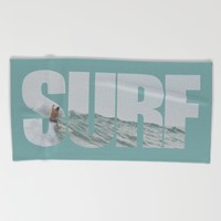 SURF Beach Towel by RichCaspian