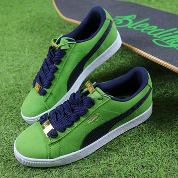 Puma Suede Classic BBOY Fabulous 50th Green White Black Shoes - Best Online Sale
