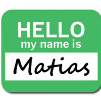 Matias Hello My Name Is Mouse Pad