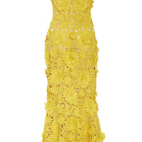 Strapless Dandelion Sheath Midi Dress | Moda Operandi