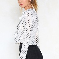 Give It All You Dot Polka Dot Top