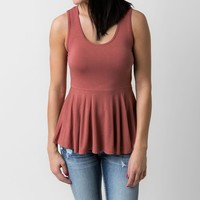 BKE red Peplum Tank Top