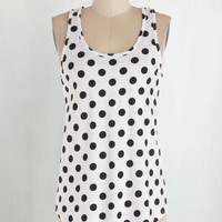 Mid-length Tank top (2 thick straps) Lively and Lovely Top