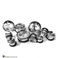 Stainless Steel Anchor Tunnels Plugs | Single Flares 2 Gauge - 1 Inch