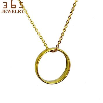 Brand Trendy Women Stainless Steel Necklace Never Fade Hobbit Lord of Chain Friendship Pendant Party Gift