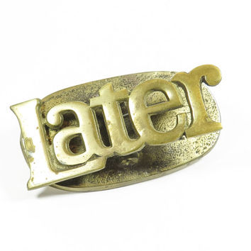 Brass Later Paper Clip Paperweight Desk Accessory
