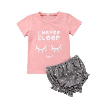 I Never Sleep Baby Girl Set