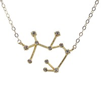 Sagittarius Constellation CZ Outline Necklace