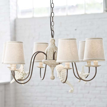 Regina Andrew Small Rusted Arm Antique Chandelier with Shells - 405-2006