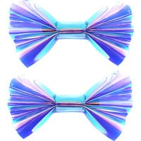 Purple Holographic Hair Bow Set