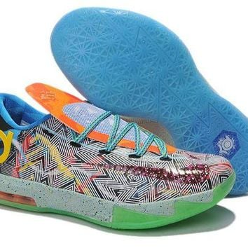 DCCKIJ2 Nike Men's Durant Zoom KD 6 Basketball Shoes Iridescence