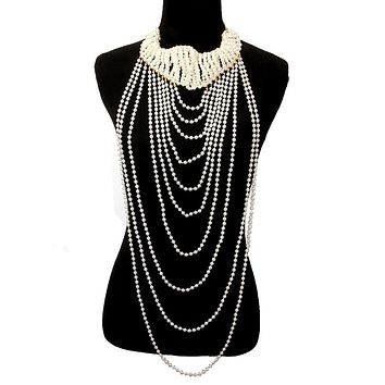 Pearl Chunky Necklace Set
