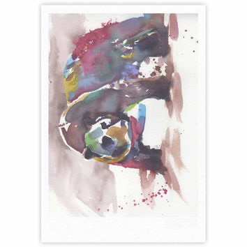 "Rebecca Bender ""Grizzly Bear Watercolor"" Abstract Animal Fine Art Gallery Print"