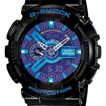 Casio Mens G-Shock XL 3D Ana-Digi - Negative Display - Black Rubber Strap
