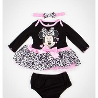 Minnie Mouse Leopard Dress and Headband Set