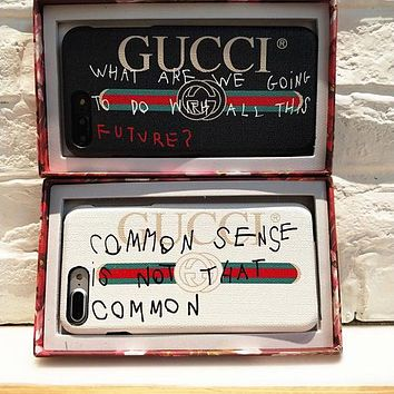 Gucci 2017 Hot ! iPhone X iPhone 8 iPhone 8 plus - Stylish Cute On Sale Hot Deal Apple Matte Couple Phone Case For iphone 6 6s 6plus 6s plus iPhone 7 iPhone 7 plus