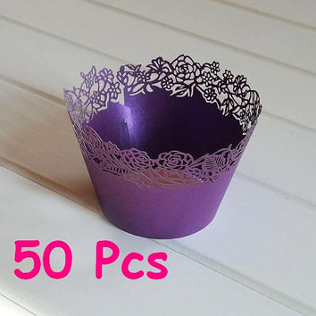Stencil flower laser cut wrapper fancy flower lace wedding Cupcake Wrappers party cake wrapper lace wrapper birthday party cake wrapper