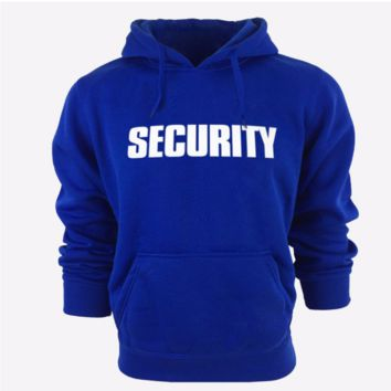 Fashion letters hoodie pullover sweater Blue