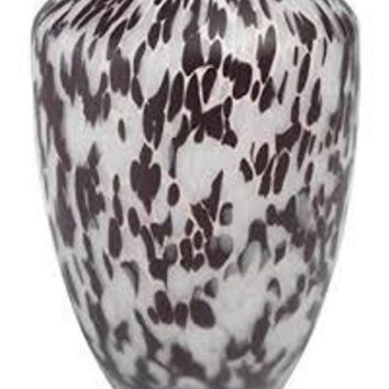 Frosted Glass Confetti Vase