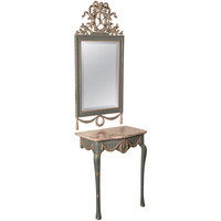 Antique French Louis XVI Console with Mirror