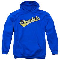 ARCHIE COMICS/RIVERDALE HIGH SCHOOL-ADULT PULL-OVER HOODIE-ROYAL BLUE