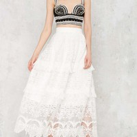 Tiering Up My Heart Lace Skirt
