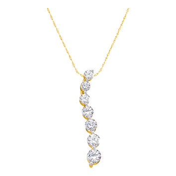 Diamond Journey Pendant in 14k Gold 0.5 ctw