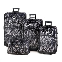 Snow Leopard Print Wheeled 4 Piece Luggage Set    SOLD OUT!