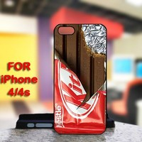 KitKat Chocolate For IPhone 4 or 4S Black Case Cover