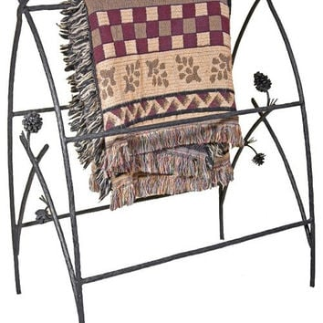 Piney Woods Wrought Iron Blanket Stand