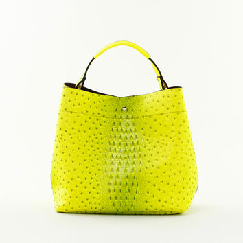 Croc Embossed Double Bag Tote