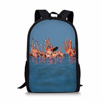 Cool Backpack school Customized Flamingo Schoolbag Printing 3D Backpack For Teenage Boys Girls Children Casual Laptop Cool Schoolbag Mochila Escolar AT_52_3