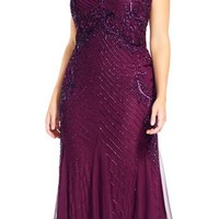 Adrianna Papell Women's Long Evening Gown Formal Dress