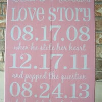WEDDING Important Date Sign, Bridal Shower Gift , Engagement gift, New Couple gift, Special Dates